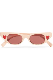 + Adam Selman The Heartbreaker cat-eye acetate sunglasses