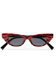 + Adam Selman The Breaker cat-eye printed acetate sunglasses