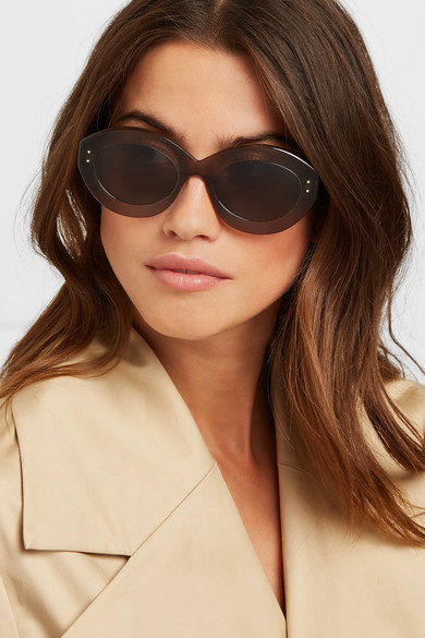 Round Frame Acetate Sunglasses by Alaïa