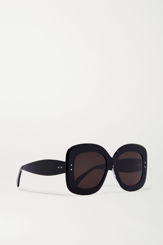 Alaïa Square-frame acetate sunglasses