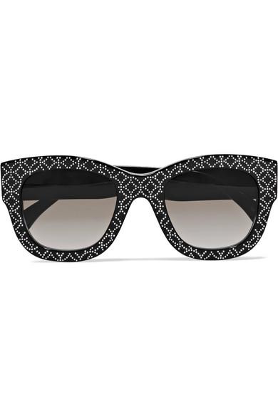 55f2b9fea1da square-frame-studded-acetate-sunglasses by alaïa