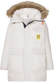 Brumal Hooded faux fur-trimmed shell down parka