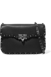Valentino Garavani The Rockstud Rolling textured-leather shoulder bag