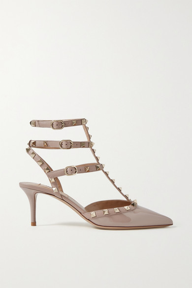 Valentino Pumps Valentino Garavani The Rockstud patent-leather pumps