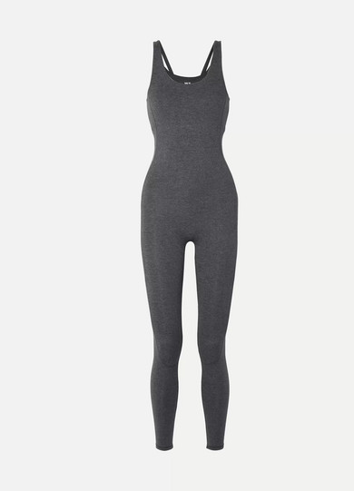 WE/ME Flow Stretch-Jersey Jumpsuit in Black
