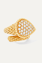 Serpent Bohème 18-karat gold diamond ring