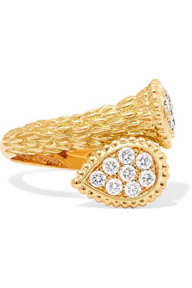 bcb947d22cef54 Boucheron | Serpent Bohème Toi et Moi 18-karat gold diamond ring ...