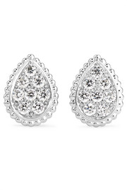 Serpent Bohème 18-karat white gold diamond earrings