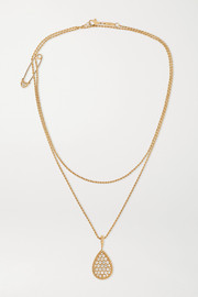 Serpent Bohème 18-karat gold diamond necklace