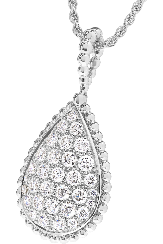 Boucheron Serpent Bohème 18-karat white gold diamond necklace