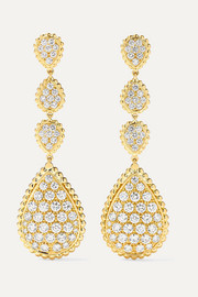 Serpent Bohème 18-karat gold diamond earrings