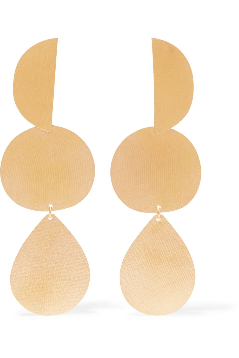 Annie Costello Brown Thea gold-tone earrings