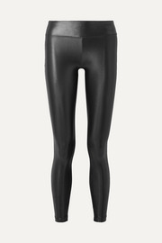 Lustrous stretch leggings