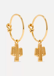 Cacti gold-plated earrings