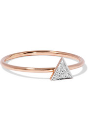 14-karat rose gold diamond ring