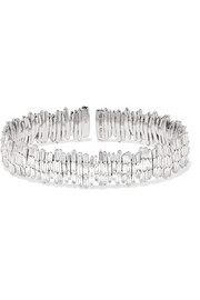18-karat white gold diamond cuff