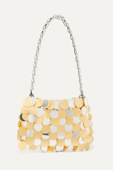 Paco Rabanne - Sparkle 1969 Sequined Faux Leather Shoulder Bag - Yellow
