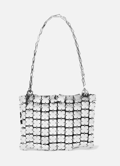 Paco Rabanne - Square 1969 Chainmail And Leather Shoulder Bag - Silver