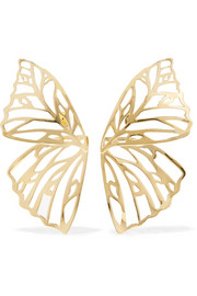 Butterfly gold-plated earrings