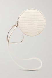 Gu_de Circle croc-effect leather clutch