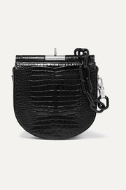 Gu_de Demi Lune croc-effect leather shoulder bag