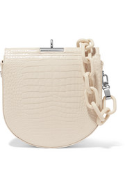 Gu_de Demi-Lune croc-effect leather shoulder bag