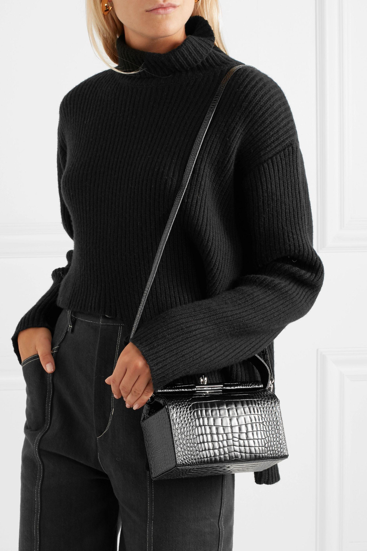Gu_de Milky mini croc-effect leather shoulder bag