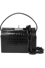 Gu_de Milky mini croc-effect leather shoulder bag