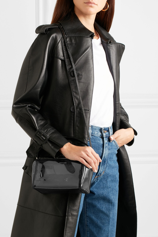Gu_de PVC and croc-effect leather tote