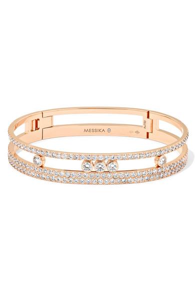 MESSIKA Move Romane 18-karat rose gold diamond bracelet