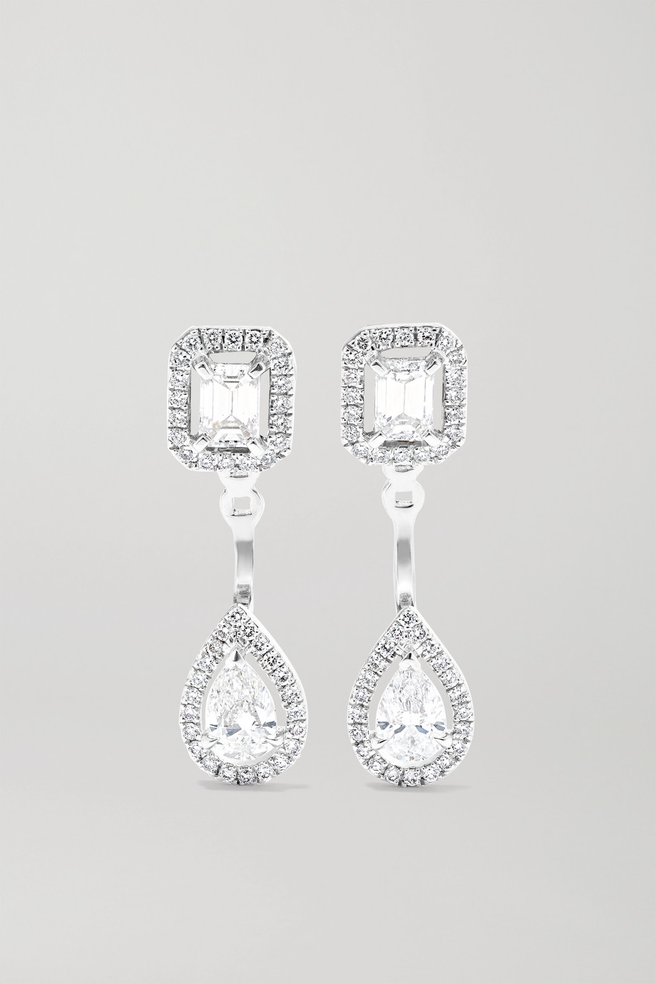 Messika Boucles d'oreilles en or blanc 18 carats et diamants My Twin Toi & Moi