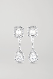 Messika My Twin Toi & Moi 18-karat white gold diamond earrings