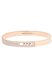 Messika Move Noa 18-karat pink gold diamond bangle