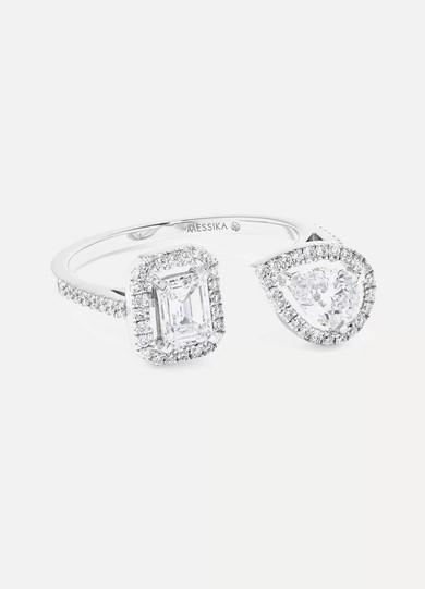My Twin Toi & Moi 18-karat White Gold Diamond Ring - 52 Messika hDEZd2T