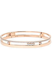 Messika Move Romane 18-karat rose gold diamond bangle