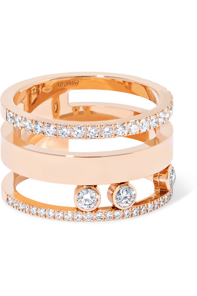 MOVE ROMANE LARGE 18-KARAT ROSE GOLD DIAMOND RING from NET-A-PORTER