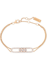Messika Move Classic 18-karat pink gold diamond bracelet