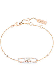 Messika Baby Move 18-karat rose gold diamond bracelet