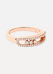 Baby Move 18-karat rose gold diamond ring