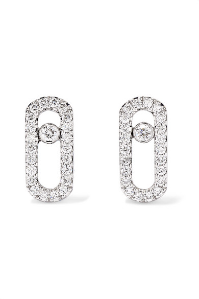 acheter pas cher b6cfa 59c49 Boucles d'oreilles en or blanc 18 carats et diamants Move Uno