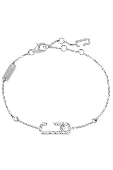 MESSIKA Move Addiction 18-karat white gold diamond bracelet