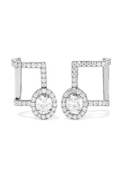 MESSIKA Glam'Azone 18-karat white gold diamond earrings