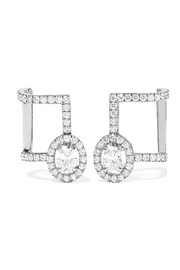 Glam'Azone 18-karat white gold diamond earrings