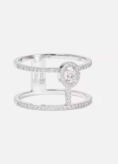 MESSIKA Glam'Azone 18-karat white gold diamond ring