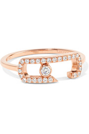 Move Addiction 18-karat rose gold diamond ring