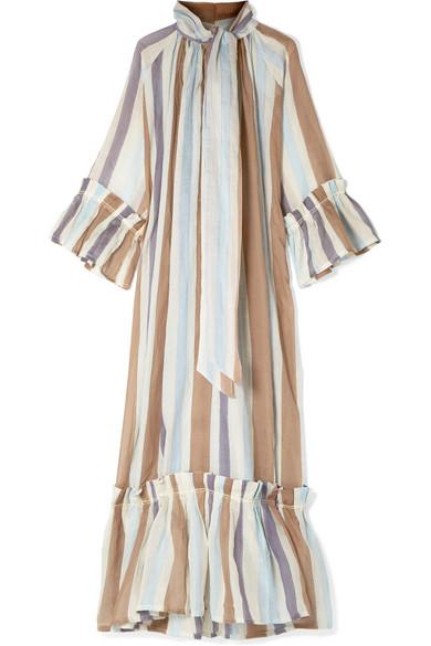 21b3865ba74 Angelica tiered striped linen maxi dress