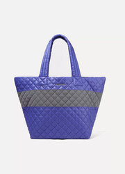 Metro medium quilted shell tote