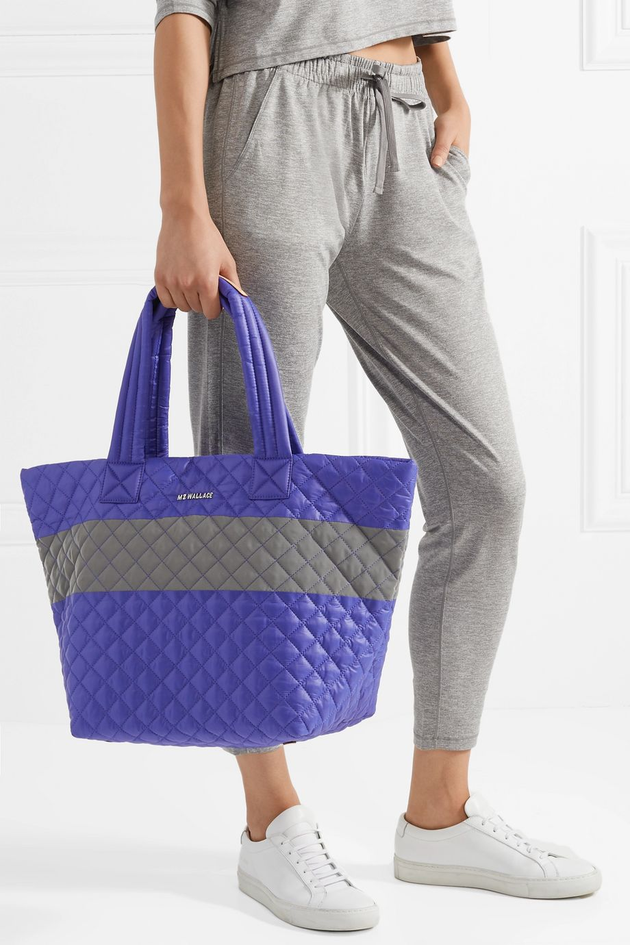MZ Wallace Metro medium quilted shell tote