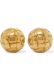 Dichotomy gold-plated silver earrings