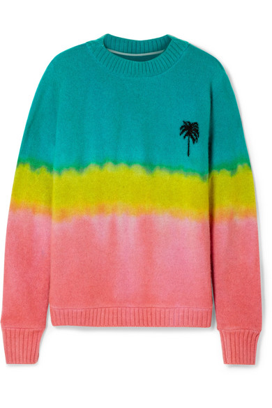 The Elder Statesman - Oversized Tie-dyed Cashmere Sweater - Green